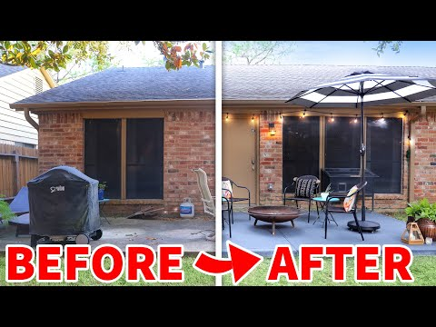 DIY Patio Makeover (anyone can do!)