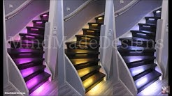 How to Make Treads/Risers On Existing Stairs LED Light DIY