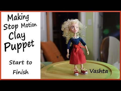 How to make a Stop Motion Clay Puppet: Start to Finish!