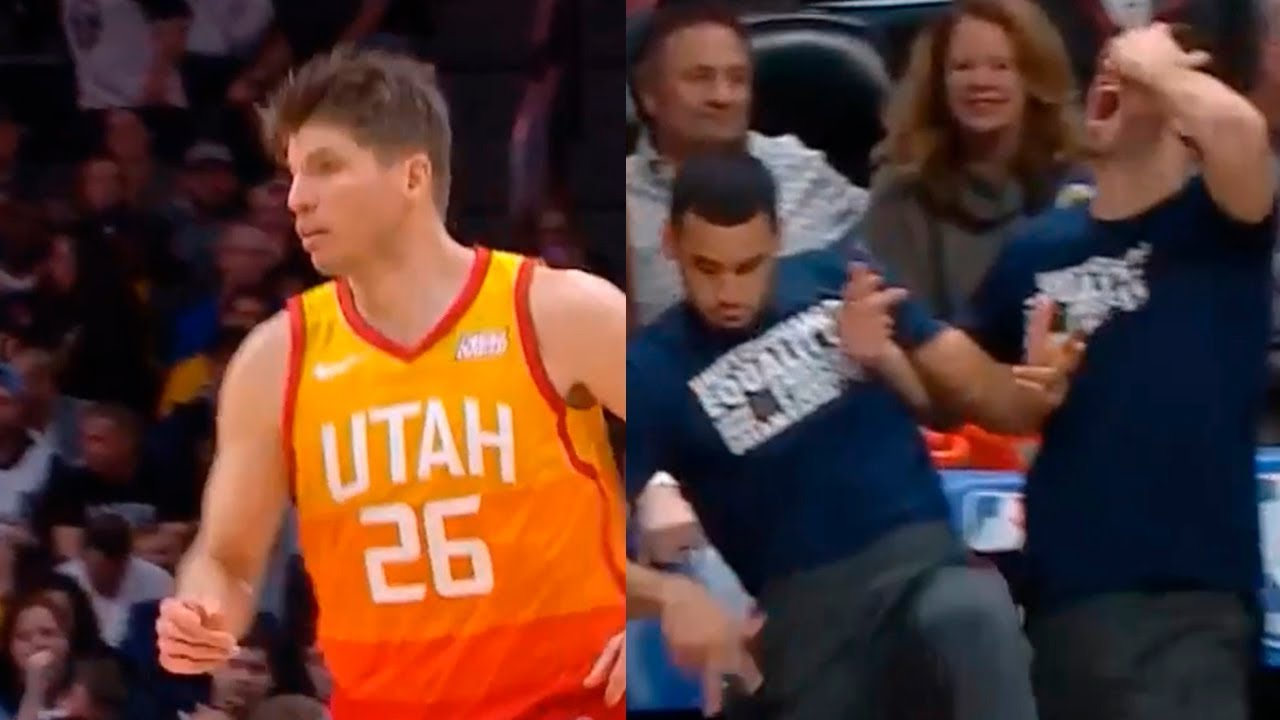 new style 44962 d1660 Kyle Korver activates LeKorver mode & make the Jazz' bench go crazy in game  vs Nuggets