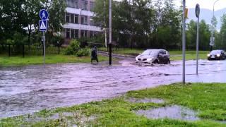 Междуреченск 4.07.2013 Дождь прошел,потоп!