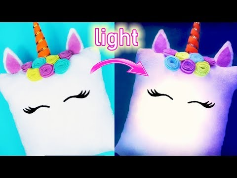 DIY UNICORN LIGHT PILLOW! NO SEW! Amazing Unicorn DIYs!