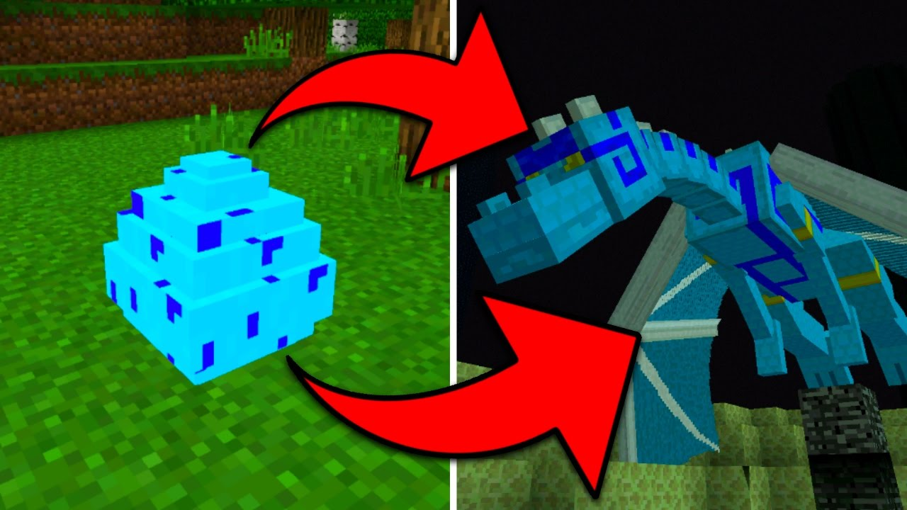 how to hatch the blue dragon egg in minecraft pocket