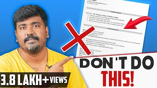 How to Write a Resume for Freshers Explained in Tamil| Resume Writing|Career Tips|Kichdy