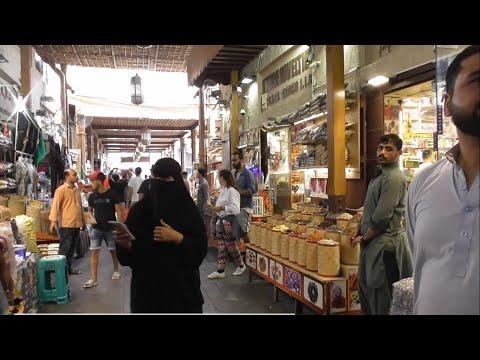 Walking around Dubai Spice market (Spice Souk) …..