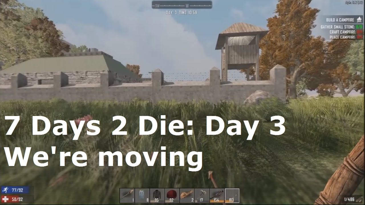7 days 2 die day 3 we 39 re moving youtube. Black Bedroom Furniture Sets. Home Design Ideas