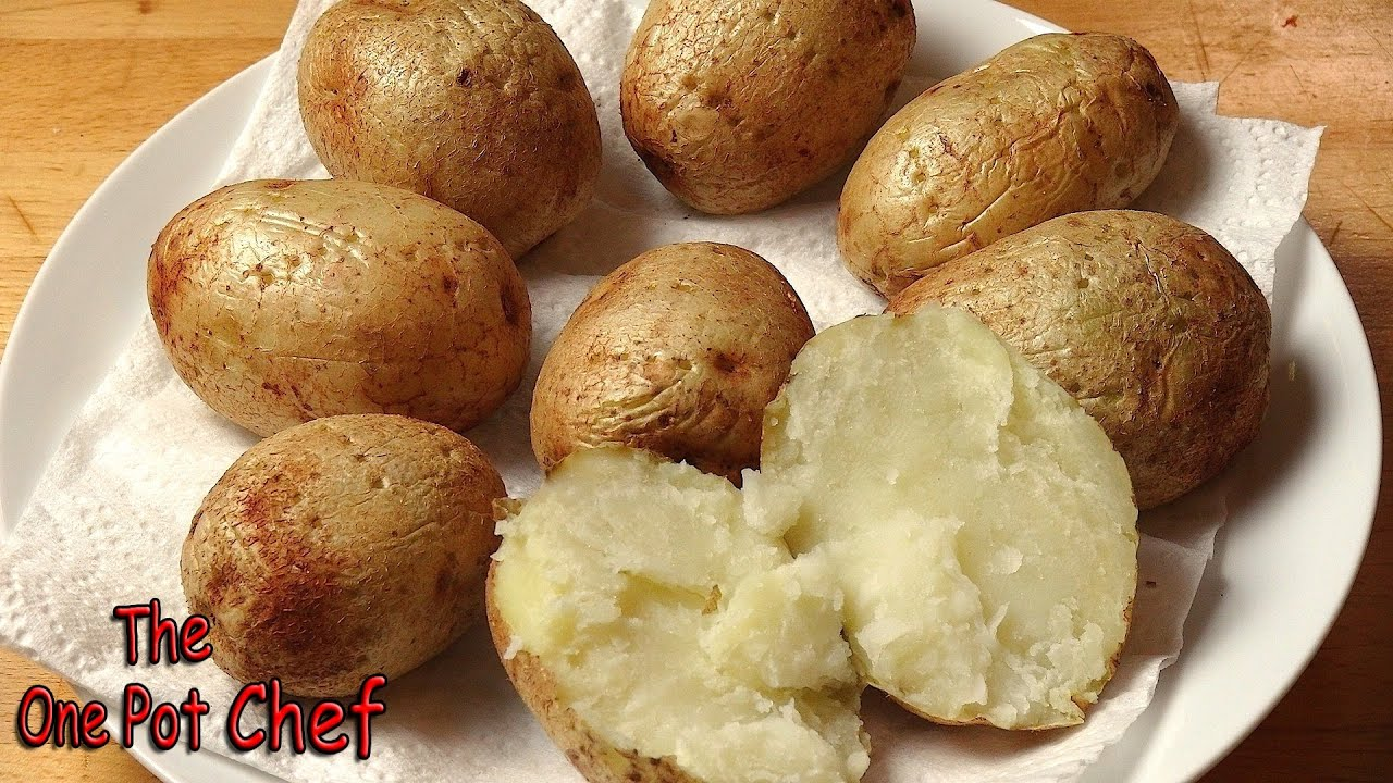 quick tips microwave baked potatoes one pot chef