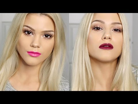 GRWM | Chic, Shimmery & Romantic Look & Two Lip Options