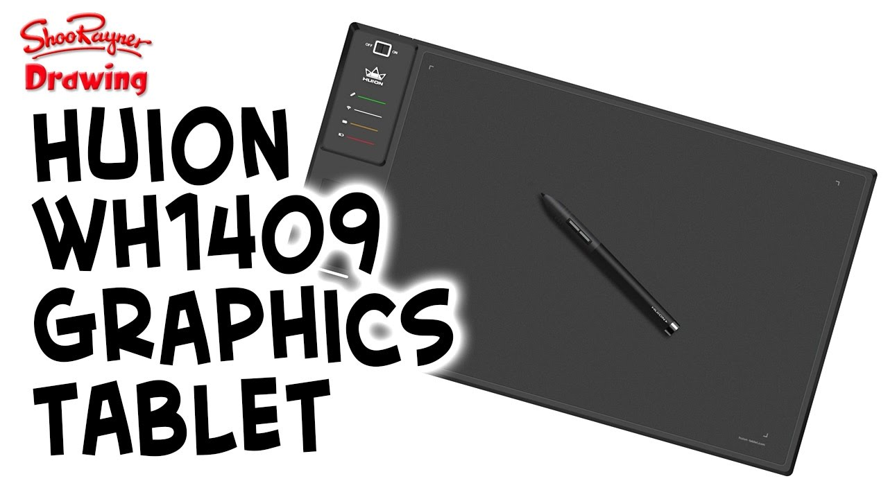 Huion WH1409 Wireless Graphics Tablet Digital Art Drawing Tablet 13.8 x 8.6/'/' US