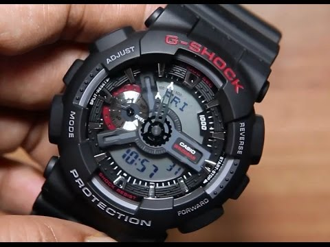 Casio G-shock GA-110-1A  Unboxing   Light demo - YouTube 5e3c5012f7cc