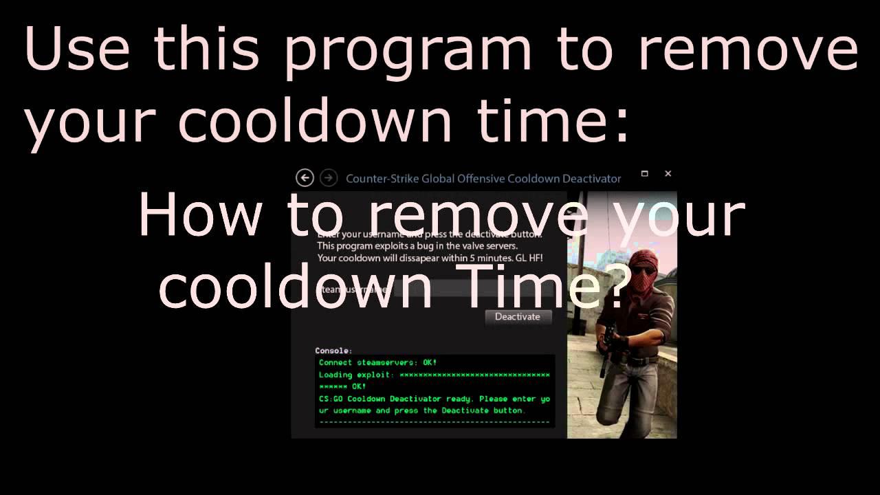 how to remove cs go cooldown