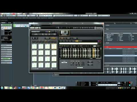 how to open groove agent in cubase 8