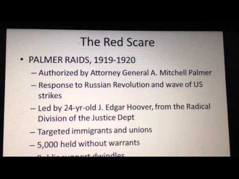 Red Scare 1919-1920