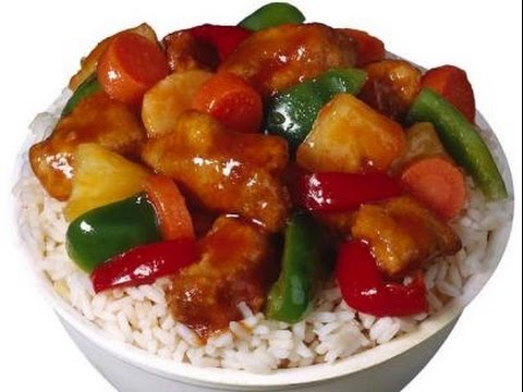 How to prepare sweet and sour chicken funny hot recipes for V kitchen restaurant vegetarian food