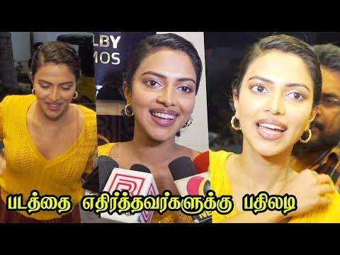 Amala Paul at Aadai Night Show with Fans & Team in SB Cinemas Aadai movie Amala Paul latest Vj Ramya
