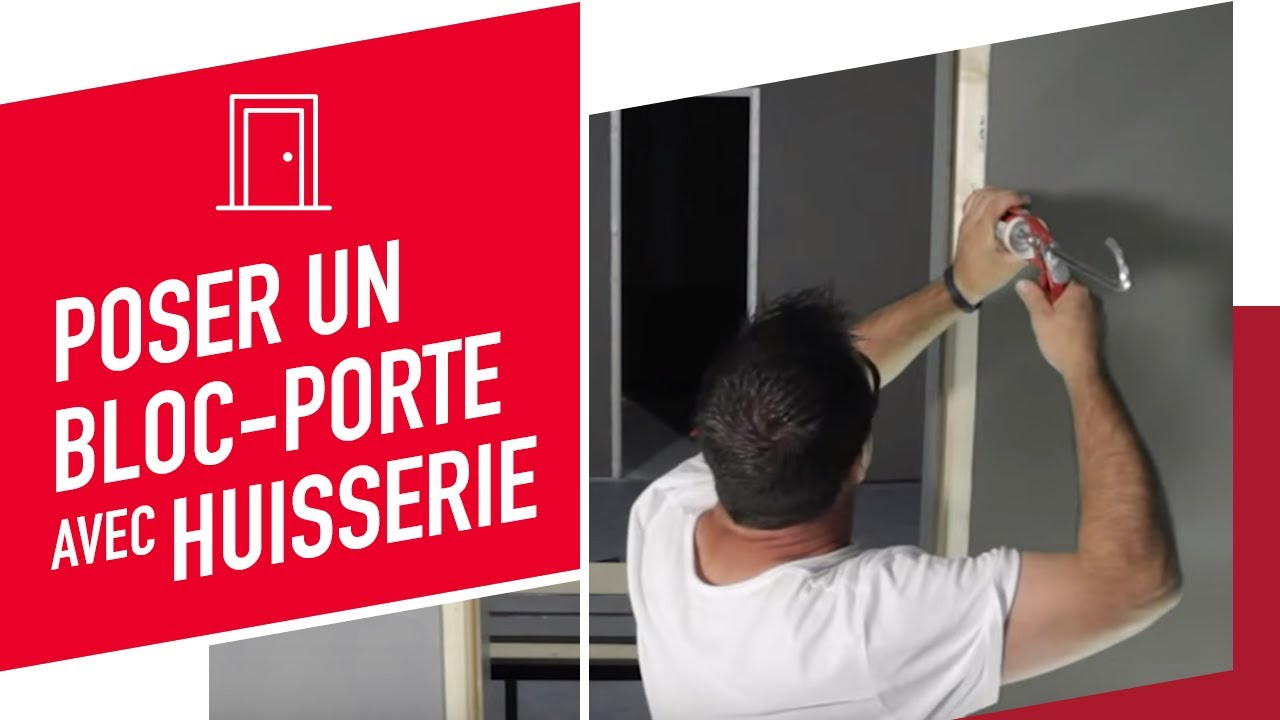 Pose En Rénovation Dun Blocporte YouTube - Porte placard coulissante et portes interieures renovation