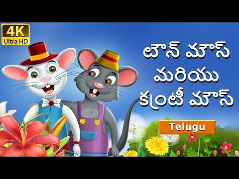టౌన్ మౌస్ మరియు కంట్రీ మౌస్ | Town Mouse and Country Mouse in Telugu | Telugu Fairy Tales