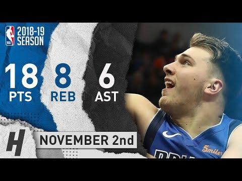 Luka Doncic Full Highlights Mavericks vs Knicks 2018.11.02 - 18 Pts, 6 Ast, 8 Rebounds!