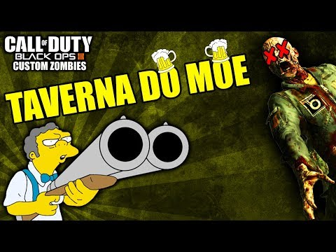 ZUMBIS CAVALOS INVADIRAM A TAVERNA DO MOE - Black Ops 3 - Custom Zombies