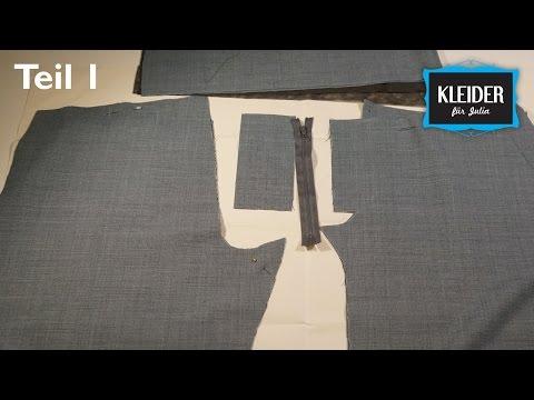 Damenhose selbst nähen // Teil 1: Schnitt Vorbereitung, Stoff markieren und schneiden