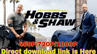 Download fast and furious Hobbs and shaw in Hindi HD