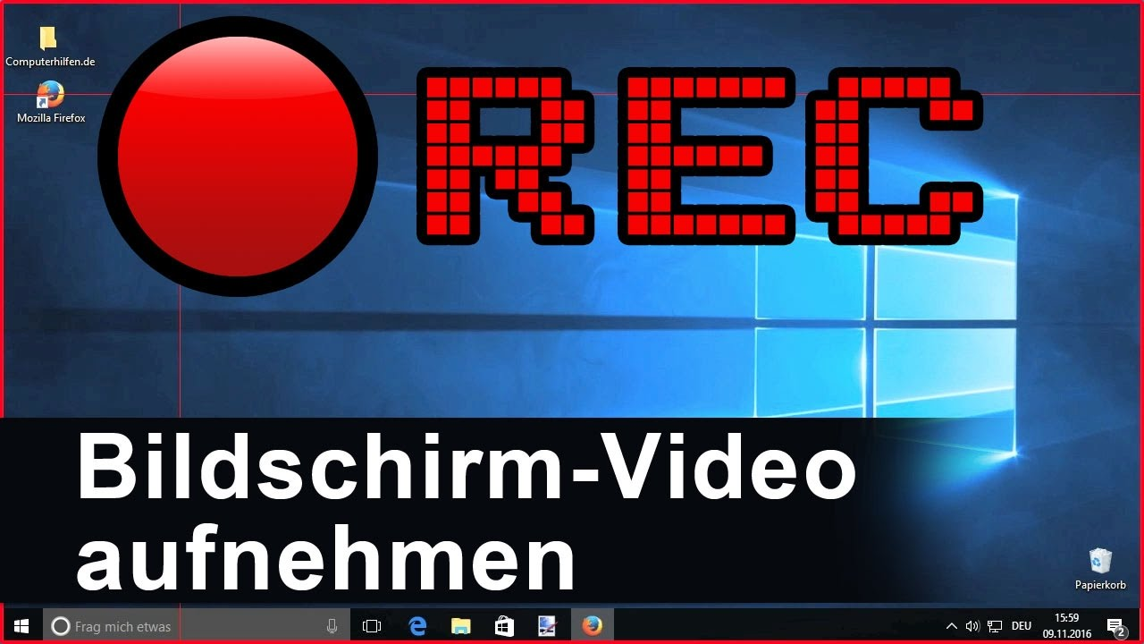 Bildschirm Recorder Windows