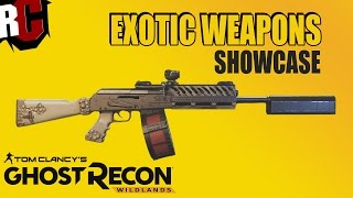 Ghost Recon Wildlands - Unique Exotic Weapons Showcase (Best Weapons Closeup and in Action)