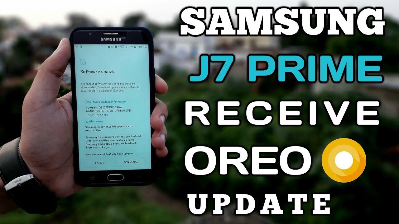 Samsung Galaxy J7 Prime Receive Oreo Update