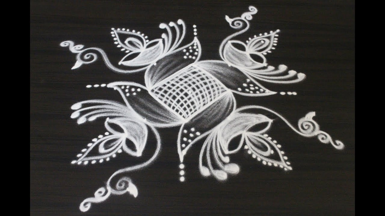 creative new rangoli and kolam designs drawn for diwali 2018