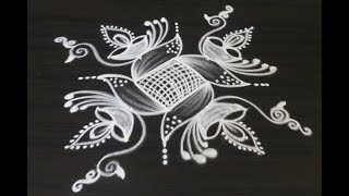 Creative new rangoli and kolam designs drawn for Diwali 2018 || Deepavali muggulu