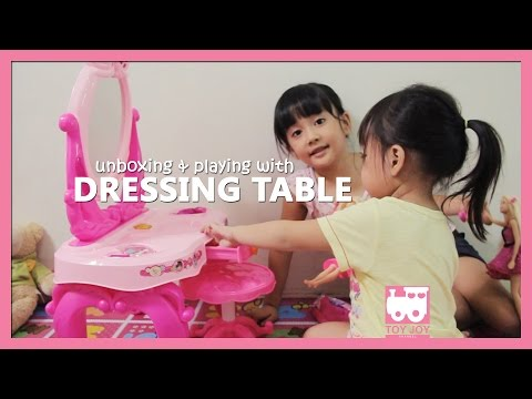Dressing table play set - Unboxing & playing | Toy Joy Channel