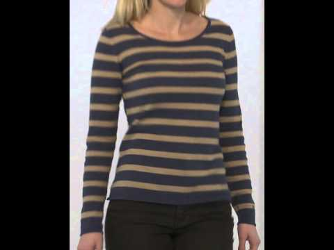 Basefield Woman Rundhalspullover Stripe