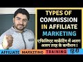 Types of Commission in Affiliate Marketing/ Affiliate Marketing for Beginners in Hindi