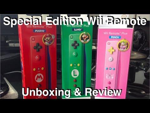 Special Edition Wii Remote Collection - Mario, Luigi & Peach - Unboxing HD