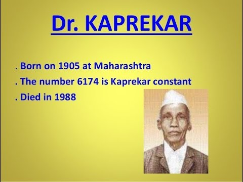 Kaprekar constant -- 6174 (Magic number)