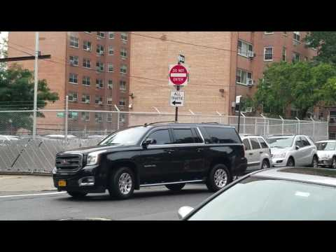 NYC Mayor Bill De Blasio Arriving On Scene Of A Major Emergency In The Bronx, New York