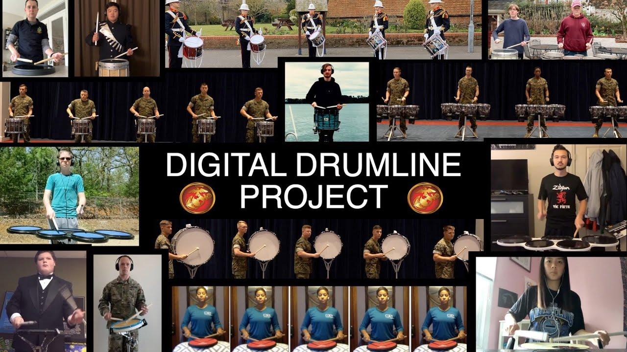 USMC Digital Drumline Project (931 videos, 277 drummers) #DigitalDrumlineProject