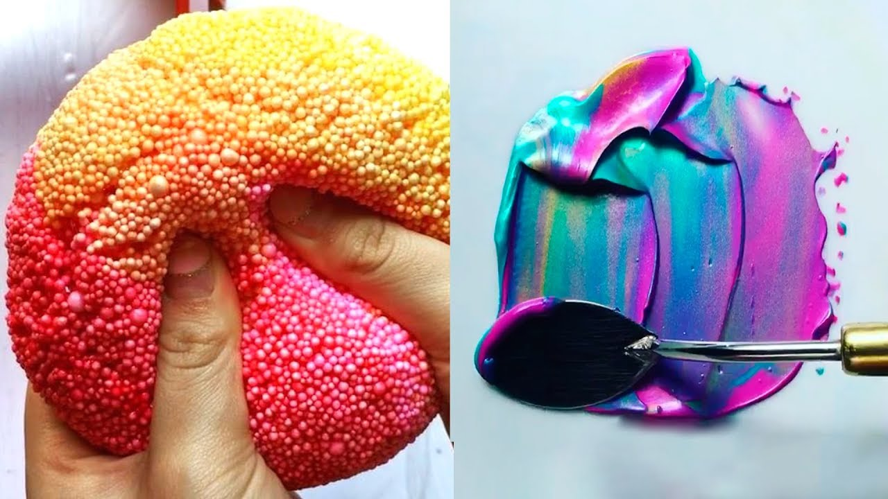 Most Satisfying Slime Videos In The World! 🍰 New Oddly ...