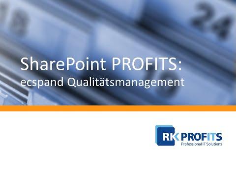 R.K. PROFITS - ecspand Qualitätsmanagement