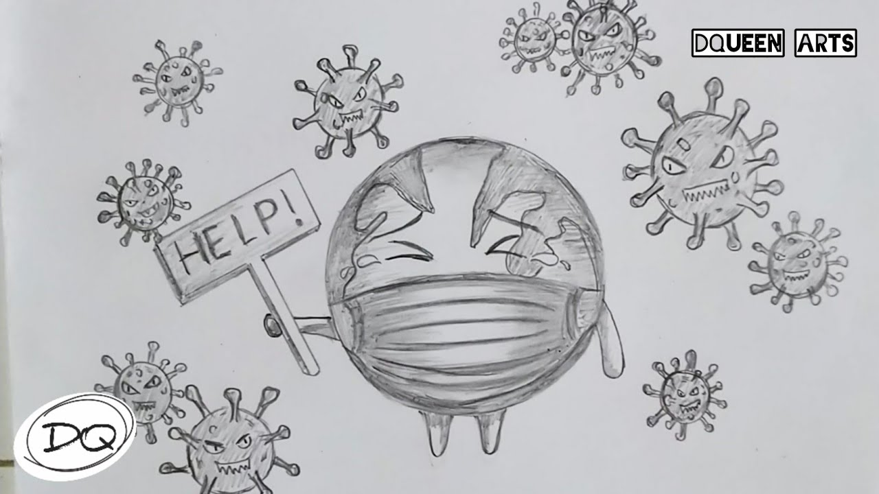 Cara Menggambar Dan Mewarnai Poster Tentang New Normal Untuk Pencegahan Covid 19 Youtube
