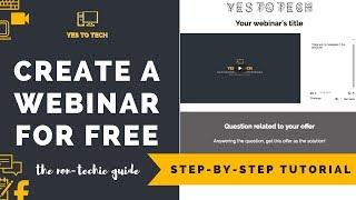 FREE WEBINAR: HOW TO CREATE A WEBINAR FOR FREE IN 12 MINS - Host A Webinar On YouTube For Free