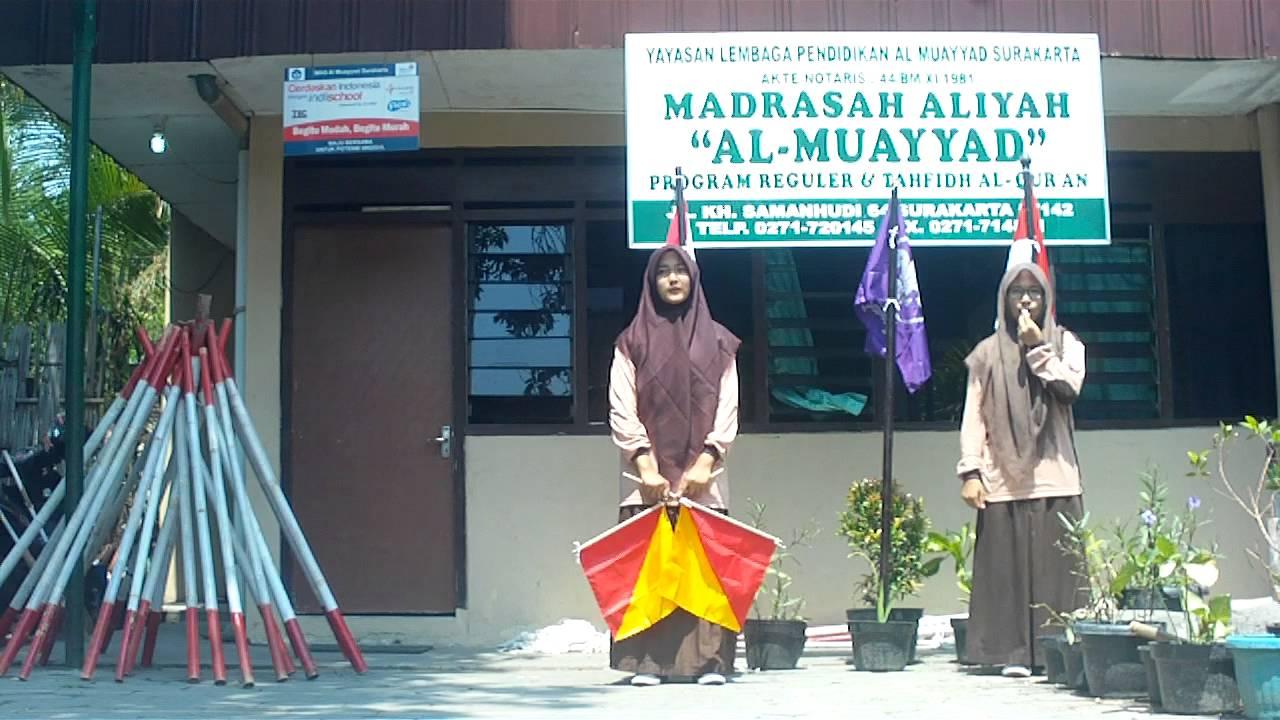 Morse Dan Semaphore Penegak Gugus Depan Ma Al Muayyad Surakarta Bendera Tongkat Semapore