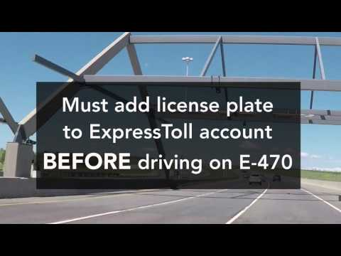 Driving A Rental Car On Colorado Toll Roads