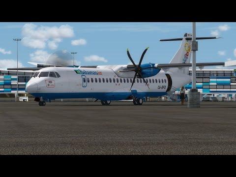 Prepar 3D v3.4 Bahamasair ATR 72-600 Flight into Nassau
