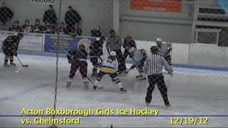 Acton Boxborough Varsity Girls Ice Hockey vs Chelmsford 12/19/12