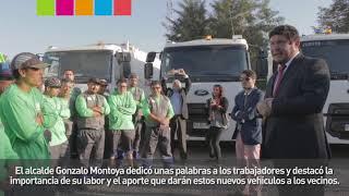 Macul estrena sus nuevos camiones recolectores y de reciclaje.