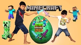 Gambar cover Minecraft Giant Toys Surprise Egg Opening