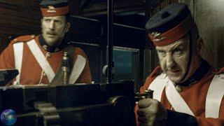 Шерлок Холмс: Игра теней. Стрельба из пулемета в поезде.