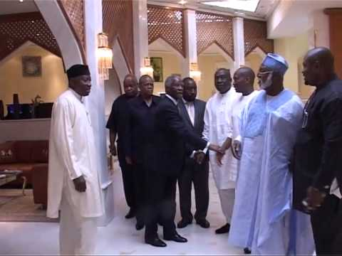 President Goodluck Jonathan Receives Thabo Mbeki