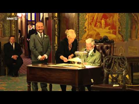 The first gay wedding in Brighton and Hove.